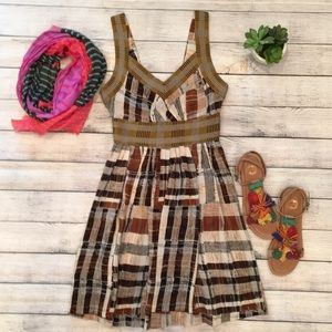 Anthropologie Tracy Reese Crop Patterns Dress sz 0